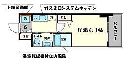 大阪府大阪市西区千代崎2の賃貸マンションの間取り