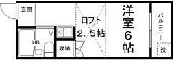 コスモガーデン英賀保[1階]の間取り