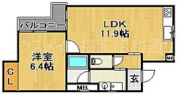 ジュネスTomachi[3階]の間取り
