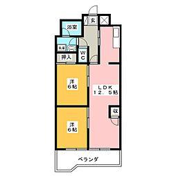 オーロラビル[11階]の間取り