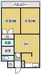 愛知県名古屋市中川区昭和橋通5丁目の賃貸マンションの間取り