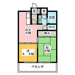 メゾンコスミック[4階]の間取り