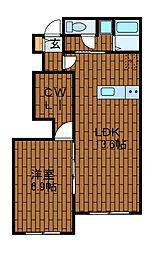 リバーサイドヴィレッジ3[1階]の間取り