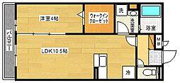 COZY岸里II[3階]の間取り