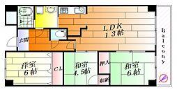 エミネンス辻本II[5階]の間取り
