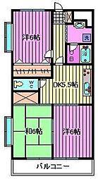 ガーデンハウス塚越[5階]の間取り