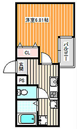 ルミエール御崎[4階]の間取り