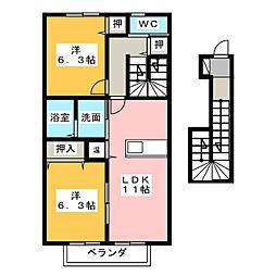 デュオ メゾン S棟[2階]の間取り