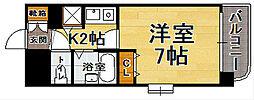 ライオンズマンション平尾第2[4階]の間取り