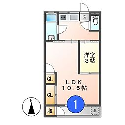 丸山マンション[3階]の間取り