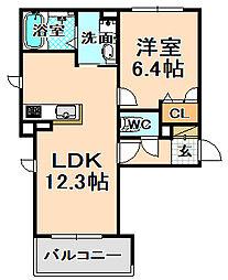 兵庫県伊丹市南野2丁目の賃貸マンションの間取り