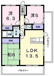 コンフォールマンション[301号室]の間取り