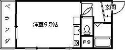 メゾン・ド・リアン[203号室]の間取り