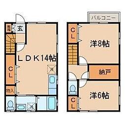 [テラスハウス] 東京都練馬区氷川台2丁目 の賃貸【/】の間取り