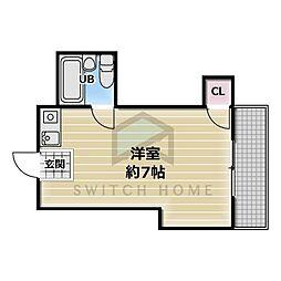 JPアパートメント東大阪[2階]の間取り