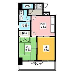 レインボー笠寺[8階]の間取り