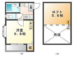 アビタシヨンM[1階]の間取り