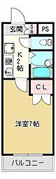 ミモザコート菱屋西(503)[6階]の間取り