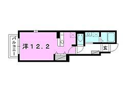 ミニヨンフルール A棟[101 号室号室]の間取り