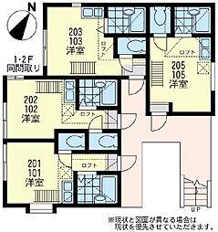 ユナイト 汐入ムーランルージュ[1階]の間取り