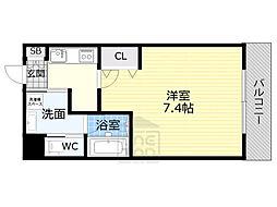 JR大阪環状線 京橋駅 徒歩9分の賃貸マンション 1階1Kの間取り