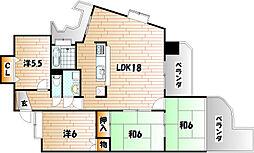 福岡県北九州市小倉南区重住1丁目の賃貸マンションの間取り