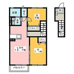 中村区東宿町アパート(仮称)[2階]の間取り