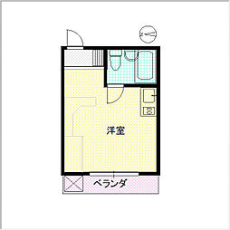繁楽荘[306号室]の間取り
