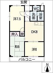 コーポ福岡[2階]の間取り