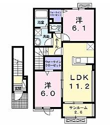 アフル シェード[2階]の間取り
