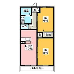 サクラハイムI[2階]の間取り