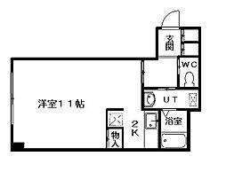 北海道札幌市中央区南九条西8丁目の賃貸マンションの間取り