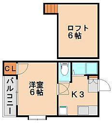 コスモルージュ[2階]の間取り