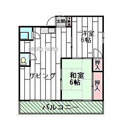 池上第3ビル[3階]の間取り