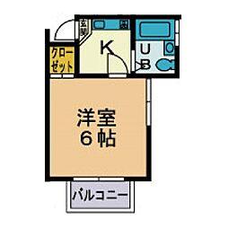 プライム鶴巻[2階]の間取り