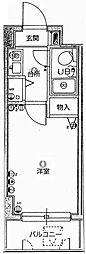 クレッセント新川崎[104号室]の間取り