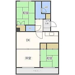 北海道札幌市東区北三十七条東14丁目の賃貸マンションの間取り
