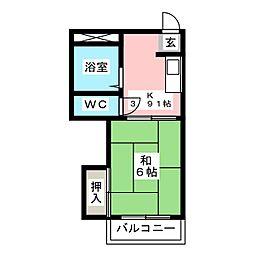 シティコートI[2階]の間取り