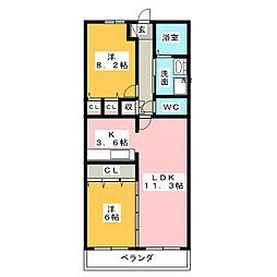 グラン・アベニュー富船[12階]の間取り