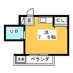 愛知県名古屋市千種区高見1丁目の賃貸マンションの間取り