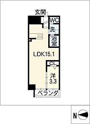 アランヴェール覚王山[7階]の間取り