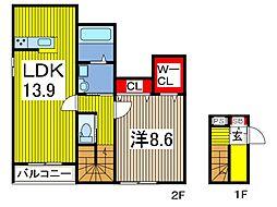 (仮称)生井様新築工事[2階]の間取り