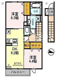 エクレール福井[2066号室]の間取り