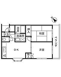 ハイツイノキ[103号室]の間取り