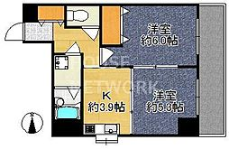 ライオンズマンション西陣南[301号室号室]の間取り
