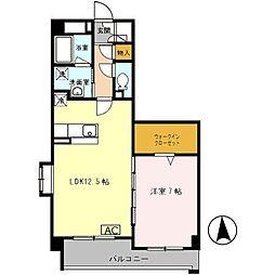 キラクマンション[2階]の間取り