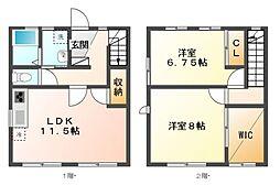 愛知県長久手市城屋敷の賃貸アパートの間取り