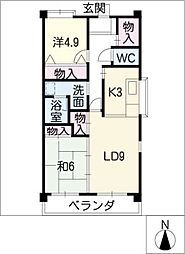 泰輝マンション[2階]の間取り