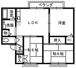 メゾンフヨウ[2階]の間取り