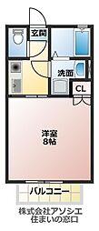 仮)金明堂不動産共同住宅[2階]の間取り